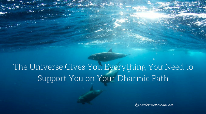 The Universe Gives You Everything You Need To Support You On Your Dharmic Path